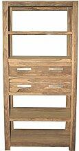 Quadrato - Regal / Bücherregal INDO, Holz Sheesham natur, Maße: B 90 x H 200 x T 40 cm