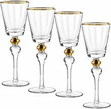 Qualia Glas q141002Weinglas, transparent/gold