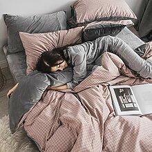 Qualität Bettwäsche 4 Stück Tagesdecke Tröster