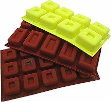 Qualität Rechteckige Silikon Backform Werkzeuge Platz Jelly Pudding Kuchen Schimmel Schimmel Frucht Eis Silikonform , 10 rectangular silicone mold