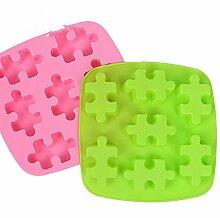 Qualität Silikon Kuchen Schimmel Mikrowelle Backen Werkzeuge Backen Schokolade puzzle Cookie Werkzeuge