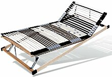 Qualitäts-Lattenrost KF, 7-Zonen 44 Leisten, hoch-belastbar, verstellbare Kopf- und Fußzone (140 x 200 cm)