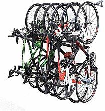 Quality Pro Fahrrad-Wandhalter für 6 Fahrräder,