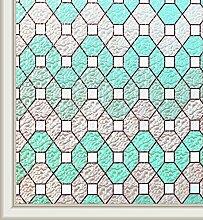 Qualsen Buntglas-Fensterfolie, Sichtschutz,