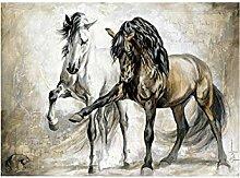 QUANGE ART Leinwanddruck mit Pferdemotiv im