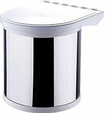 Quantio Einbau Abfalleimer - 8 Liter - Abfalleimer - Mülleimer - Eimer - Tretmülleimer - Recycling Behälter - Mülltrennung - Abfallsammler - Abfallbehälter