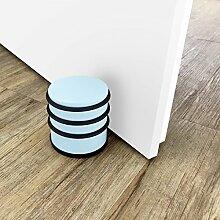 Quantio Türstopper 1 kg - 7 x 7,5 cm (ØxH), Stopper für Tür - Beige, Blau, Rosa oder Grün, Farbe und Menge wählbar, Farbe:Hellblau, Stückzahl:4 Stück