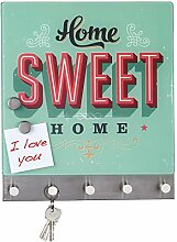Quantio WENKO Schlüsselbrett Home Sweet Home -