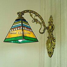 Quartett Tiffany-Lampen minimalistische Wandleuchte Spiegel Frontlampe Nachttischlampe Gang Wandleuchte