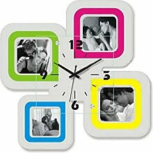 Quarz Uhr Foto Wanduhr mit Bilderrahmen