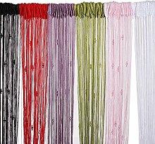 Quaste Schnur Vorhang Fliegengitter Divider Room 3 Perlen Dekoration (Farbe: Rosa)