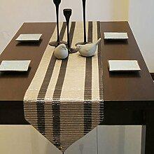 Quasten Tischläufer Tischset Esstisch Kissen Silber und Grau ( größe : 32*200cm )