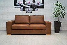 Quattro Meble Echtleder 2,5 Sitzer Sofa California