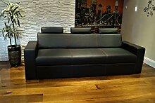 Quattro Meble Echtleder 3 Sitzer Sofa Antalya I 3z