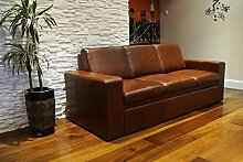 Quattro Meble Echtleder 3 Sitzer Sofa ATLANTA FS