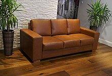 Quattro Meble Echtleder 3 Sitzer Sofa California