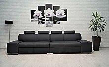 Quattro Meble Echtleder 4 Sitzer Sofa London 4z