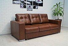 Quattro Meble Glanz Echtleder 3 Sitzer Sofa