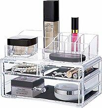 qubabobo Acryl klar Schmuck Beauty Kosmetik Aufbewahrung Box mit Schublade, große Make-up-Organizer 6725
