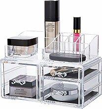 qubabobo Acryl klar Schmuck Beauty Kosmetik Aufbewahrung Box mit Schublade, große Make-up-Organizer 6729