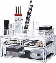 qubabobo transparent Acryl Schmuck Kosmetik Aufbewahrung Make-up-Organizer, Display Boxen, Verbandes Fall 6736