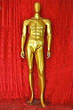 Qubeat Mannequin männlich Faceless Gold