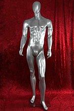 Qubeat Silberne, männliche Schaufensterpuppe ohne