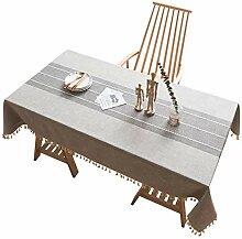 Qubng Baumwolle Leinen Tischdecke Tischdecke