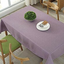 Qubng Tischdecke Stoff Baumwolle leinen Stil