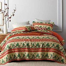 Qucover Tagesdecke für Weihnachten aus Baumwolle