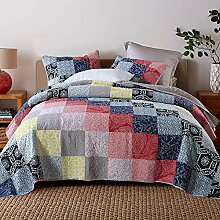Qucover Tagesdecke Patchwork 220 x 240 cm aus