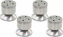 Queenbox® 4pcs 60mm Höhe Möbelbein Silber Ton