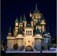 queence Acrylglasbild Schloss 80 cm x 80 cm x 2,4