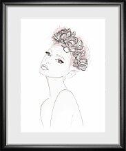 queence Bild Girl 30x40 cm bunt Bilder mit Rahmen