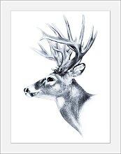 queence Bild Hirsch 40x50 cm schwarz Bilder mit