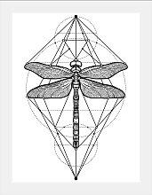 queence Bild Libelle 30x40 cm schwarz Bilder mit