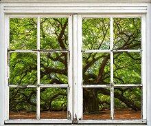 queence Wandsticker Baum 40x0,1x60 cm grün