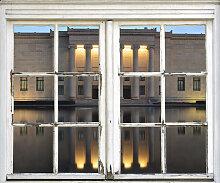 queence Wandsticker Gebäude 40x0,1x60 cm beige