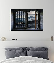 queence Wandsticker Wolkendecke 60x40 cm grau