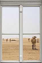 queence Wandsticker Wüste mit Kamelen 40x0,1x60