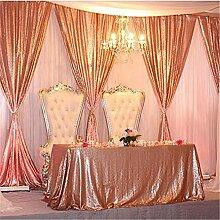 QueenDream 90x132 Champagner Blush Pailletten