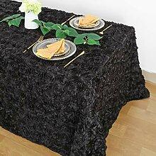 QueenDream schwarze Rosetten-Tischdecke,