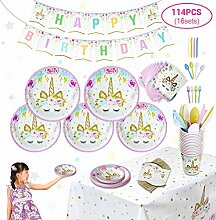 Queenhairs Einhorn Fantasy Party Supplies Unicorn