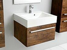 Quentis Zeno 60, Waschplatz 2-teilig, Unterschrank mit einer Schublade, Front und Korpus Holzdekor antik