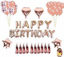 Queta Geburtstagsdeko, Folienballon Geburtstag