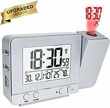 Queta Projektionswecker Digital Uhr mit Zeit