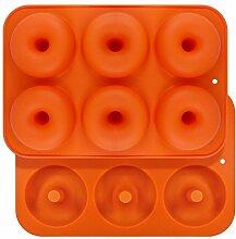 Queta Silikon-Donut-Form, 6 Mulden,