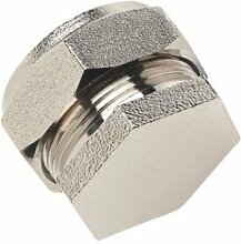 Quetschverschraubung Messing-Endstück Verbinder 15 mm, verchromt, 1 Stück