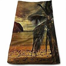QuGujun Large Beach Towels Tropical Plam Tree