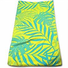 QuGujun Luxury Handtuchs Tropical Palm Leaf 3